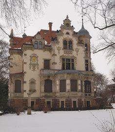 Villa Weigang (Dresden) im Winter