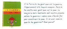 """Brigitte Labbé / Michel Puech. """"La guerra y la paz"""". Editorial SM (para adultos: maestros, bibliotecarios, padres, etc. y a partir de 10 años). También en catalán, """"La guerra i la pau"""", editorial Cruïlla. Está a la BPM de Cocentaina"""