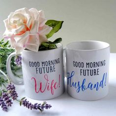 These lovely future husband and wife mugs can be bought separately, but why not treat your fiancé AND yourself to a set? That way you can enjoy every engaged coffee together with your matching mugs, always celebrating your upcoming nuptials.