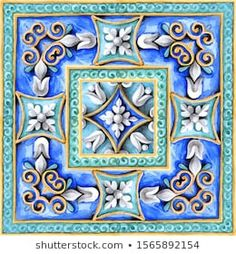 Illustrazione stock 1565892154 a tema Italian Majolica Decoration On Ceramic Tiles Classic House Exterior, Italian Pottery, Illustrations, Royalty Free Images, How To Draw Hands, Miniatures, Decoration, Hand Painted, Stock Photos