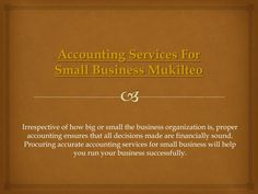 Try this site http://yourbalancesheetllc.com/ for more information on Bookkeeping Services Mukilteo. Outsourcing business bookkeeping can be indispensable since online bookkeeping services can either replace your bookkeepers and accountants or supplement your in-house staff members. Online Bookkeeping Services Mukilteo offers you a trial. Use this to assess what works best for you before you buy.\nFollow us https://www.rebelmouse.com/AccountingCompanyMukilteo&#x...