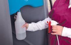 La #soluzione pulente prodotta da #Orbio 5000-Sc può essere facilmente erogata in flaconi anche di piccole dimensioni ed evita perdite di tempo e di denaro riducendo il numero di detergenti generici e il bisogno di acquistarli, trasportarli e stoccarli.