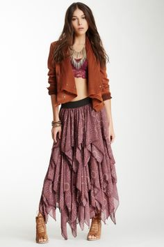 Tutu Printed Layered Skirt on HauteLook. I have this skirt with a similar jacket and shoes.  Think I'll wear a shirt with it tho...