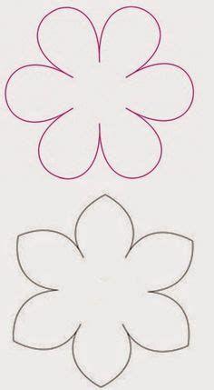Cartulina Moldes De Flores De Papel Para Imprimir Wafer Paper Flowers, Edible Flowers, Felt Flowers, Felt Flower Template, Paper Flower Tutorial, Diy And Crafts, Arts And Crafts, Paper Crafts, Flower Shape