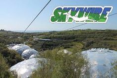 Skywire: Cornwall - Google Search At 660m, SkyWire is still the longest zip wire in England and now it's definitely the fastest. We've clocked our test pilots going at 60mph! And you can now fly headfirst in our 'superman' harness.