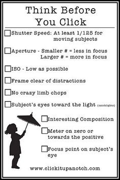great cheat sheet! #photography