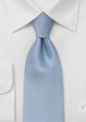 Seiden XXL-Krawatte hellblau Kästchenmuster günstig kaufen