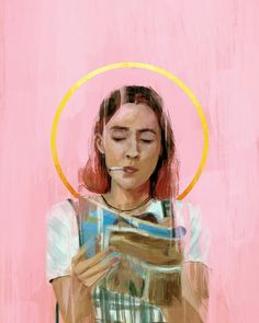 """""""You're not gonna get in a car with a guy that honks, are ya?"""" Lady Bird - Illustration by Relly Coquia"""