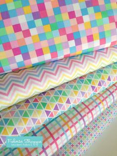 Easter Fabric Plaid fabric Cotton Fabric by the by FabricShoppe