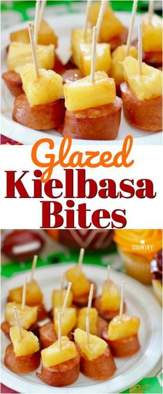 Glazed Kielbasa Bites recipe from The Country Cook and Save-A-Lot #ad #tailgate #tailgating #food #superbowl