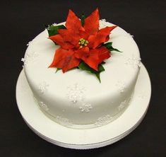 Poinsettia Christmas cake by Alix s Cakes, via Flickr