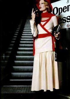 1974 Fashion, 70s Inspired Fashion, Vintage Fashion, Vintage Style, 1970s Clothing, Wise Women, Sonia Rykiel, Vintage Knitting, Knitwear