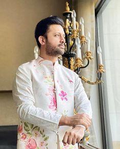 White embroidered sherwani