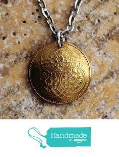 Domed Coin Necklace Guyana Lotus Flower Pendant 1967 https://www.amazon.com/dp/B06XX5F8HN/ref=hnd_sw_r_pi_dp_qPS2ybX0FH45M #handmadeatamazon