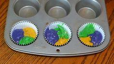 These tri-colored cupcakes are sure to be a hit at any Mardi Gras celebration! Description from hezzi-dsbooksandcooks.com. I searched for this on bing.com/images