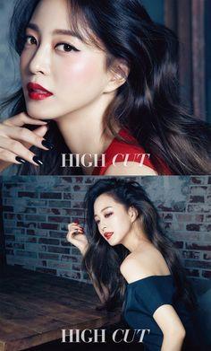 Han Ye Seul looks gorgeous with fierce red makeup for 'High Cut' | allkpop.com