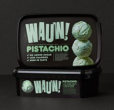 Packaging and identity for the Danish ice cream brand Wauw!