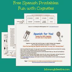 Spanish-English cognates worksheets