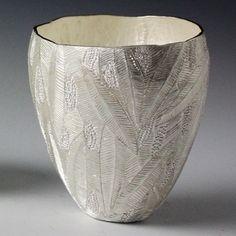 """One of trio vessels"" by Julie Blyfield. 2013. Silver."