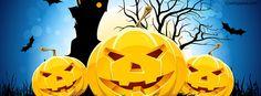 Halloween Pumpkin Faces Facebook Cover coverlayout.com