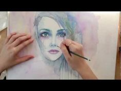 Speed Painting : Heavy Heart (watercolor)