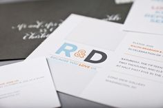 Modern and Personal Same-Sex Wedding Invitations by SugarB Studio via Oh So Beautiful Paper (2)