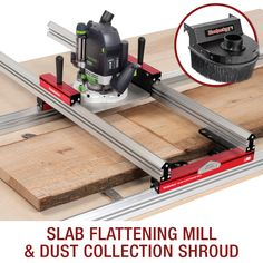 Make a live edge slab table top with Woodpeckers' slab flattening mill. The live edge slab flattener makes it simple to use your router to flatten and thicken slabs right in your own shop.