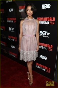 Gugu Mbatha-Raw looks stunning while arriving at the premiere of her latest film Beyond The Lights held during the opening of the 2014 Urbanworld Film Festival at…