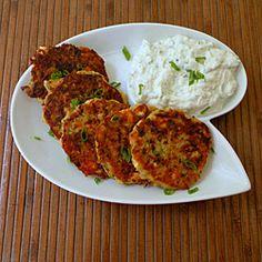 Potato and Zucchini pancakes with F