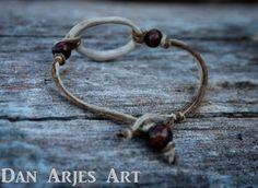 Antler Ring Pendant Bracelet by TheAntlerArtisan on Etsy, $15.00