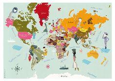 Weltkarte Poster Poster