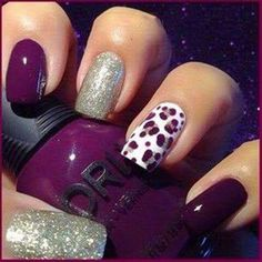 50 Stylish Leopard and Cheetah Nail Designs - For Creative Juice - Cheetah nails - Cheetah Nail Designs, Leopard Print Nails, Purple Nail Designs, Cute Nail Designs, Leopard Prints, Animal Prints, Leopard Nail Art, Dark Nail Designs, White Leopard