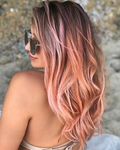 """992 Likes, 27 Comments - Orange County Hair Stylist (@lo_wheelerdavis) on Instagram: """"Check out this rosey baby doll! this shade is @joicointensity peach/ pink Model/photo @asieestorm…"""""""