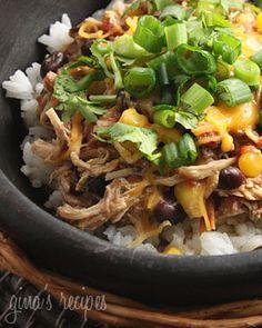 Crock Pot Santa Fe Chicken | Skinnytaste Had this for supper tonight.... so good!!