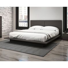 Stellar Home Modena Queen Platform Bed Finish: Charcoal Gray