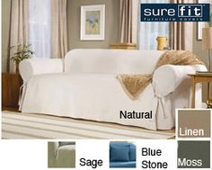 Sure Fit Classic Duck Washable Sofa Slipcover   Overstock.com Shopping - Big Discounts on Sure Fit Sofa Slipcovers
