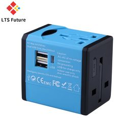 2017 Newest Orangal Universal Travel Adapter Dual USB Charger Electrical Socket US UK EU AU International Electrical Plug Socket