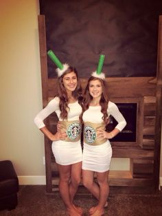 Starbucks cups Halloween costume idea  sc 1 st  Pinterest & Tuesday Ten: Crafty u0026 Creative Halloween Costumes | Pinterest | Rock ...