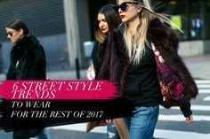 Koobbe tries to narrow down top 6 repeated trends of 2017 to keep you stylish. So without further ado, let us look at the top street style trends to wear for the rest of the year: 1. White Boots 2. Wide-Leg Trousers 3. Three or More Floral Prints in One Look 4. Extra Long Sleeves 5. Fishnets 6. Scarf as a Bag Strap