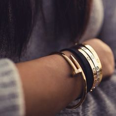 Love the Cartier Love bracelet... Too bad they're like 6K