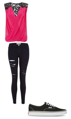 normal day by jsf2004 on Polyvore featuring Lipsy, Frame Denim and Vans