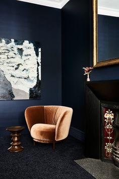 Living Room Designs, Living Room Decor, Living Rooms, Interior Architecture, Interior Design, Victorian Terrace, Green Gables, Luxury Apartments, Colorful Interiors
