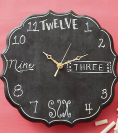 Clock Craft Project | #DIY Chalkboard Clock | Directions on Joann.com | Supplies available at your local Jo-Ann Fabric and Craft Store