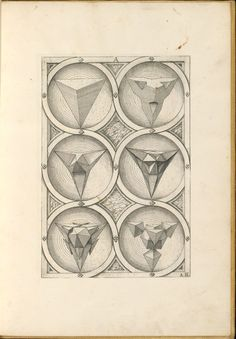 Perspectiva Corporum Regularium (Perspective of regular solids), designed in 1568 by German goldsmith and printmaker Wenzel Jamnitzer (1508–1585) is a research in shapes inspired by the five Platonic solids: tetrahedron, cube, octahedron, dodecahedron, and icosahedron.