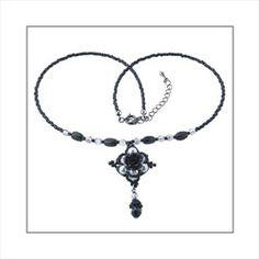 Create Your Own DIY Miyuki Glass Bead Necklace Kit - Gothic Noir Rose
