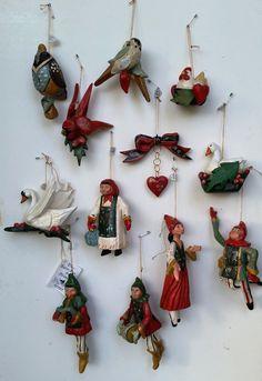 Houses Modern Christmas Ornaments for sale Christmas Makes, Christmas Mood, 12 Days Of Christmas, Christmas Goodies, Vintage Christmas, White Ornaments, Wooden Ornaments, Xmas Ornaments, Christmas Tree Decorations