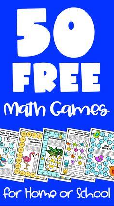 Third Grade Math Games, First Grade Math Worksheets, Kindergarten Math Games, Fourth Grade Math, Math Activities, Preschool, Third Grade Centers, Math Centers, Free Math Games