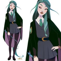 Design character manga animation 46 ideas for 2019 Slytherin Aesthetic, Slytherin Pride, Dibujos Cute, New Charmed, Witch Art, Art Et Illustration, Harry Potter World, Character Design Inspiration, Fantastic Beasts