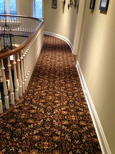 Patterned Carpet In Hallway And Stairs. Professionally Installed By Riemer  Floors. #carpet,