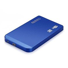 """£1.99 (75% Off) on LootHoot.com - MEMTEQ 2.5 Inch Hard Drive Enclosure SATA USB 3.0 HDD External Enclosure Case 2.5"""" SATA HDD SSD Compatible with Windows and MAC Systems, 2.5"""" HDD SATA Enclosure for PC and Laptop Tool Free Blue"""